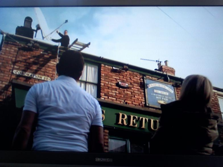 That dish on Corrie- thought it would come down another way..