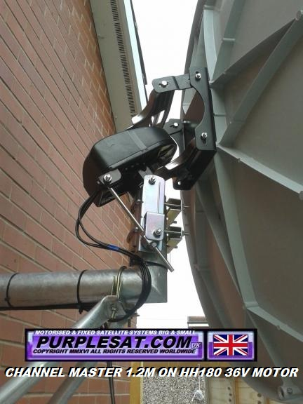 PURPLESAT HH180 36V HH SATELLITE MOTOR WITH CHANNEL MASTER 1.2