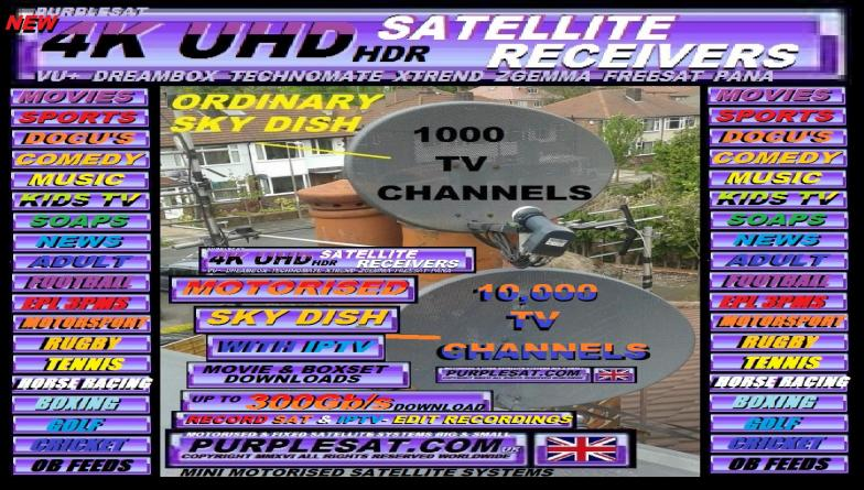PURPLESAT MINI MOTORISED SATELLITE & IPTV SYSTEMS