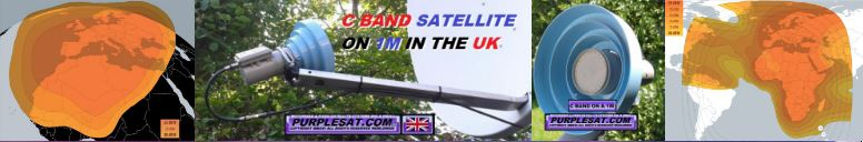 C BAND SATELLITE ON A 1M IN THE UK
