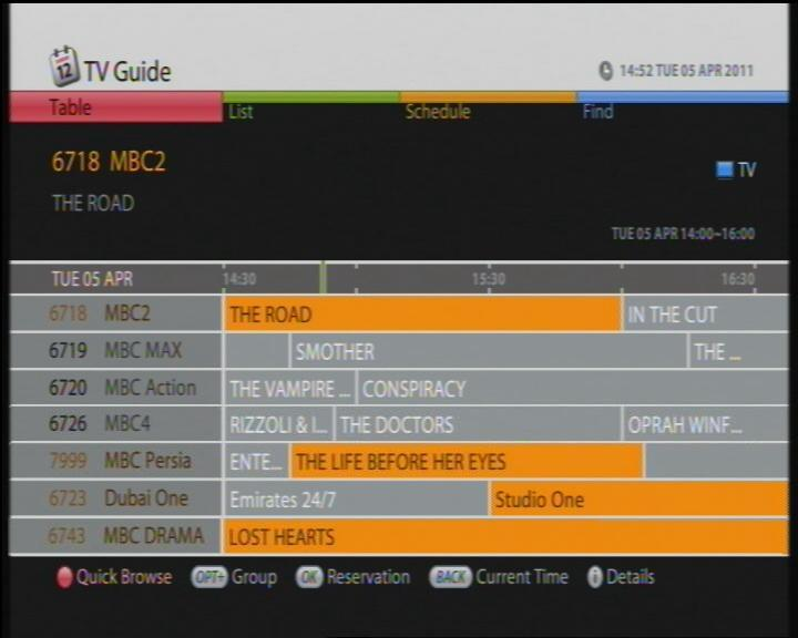foxsat epg on 26e