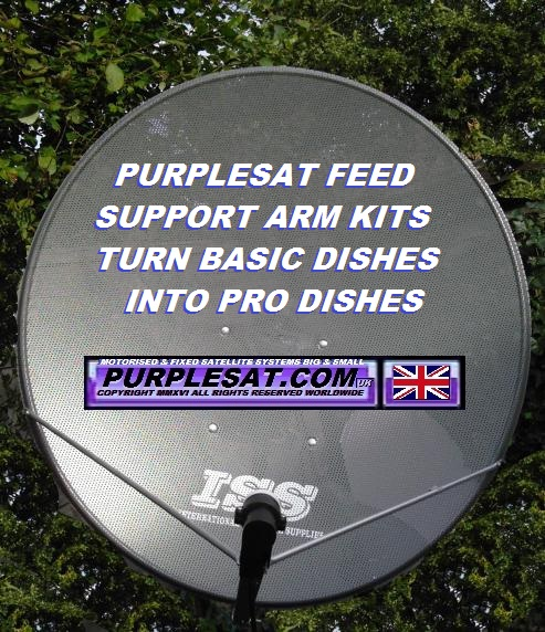 ISS 1m with Purplesat.com feed support arms & back brace