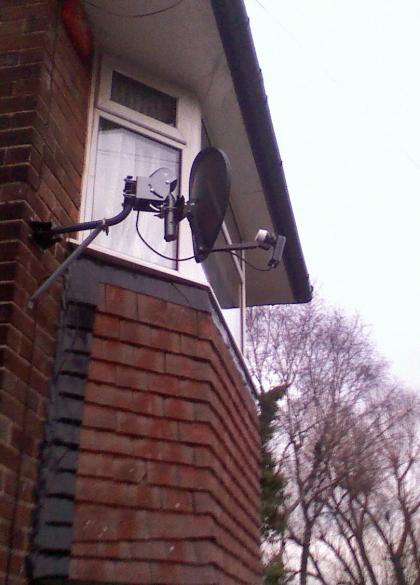 motorised sky dish