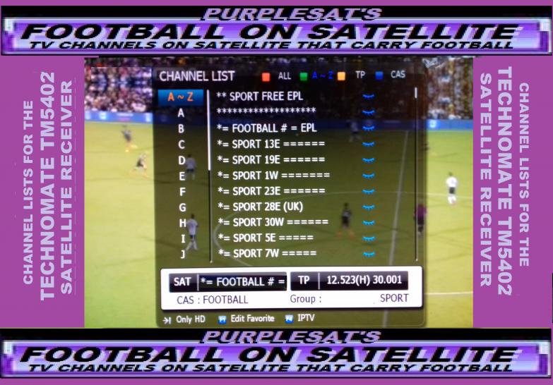 PURPLESAT SAT CHANNELS NEW SPORTS SECTIONS