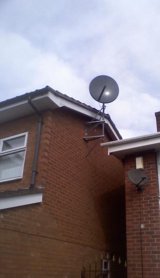 PURPLESAT MOTORISED 90CM OVER ROOF INSTALL