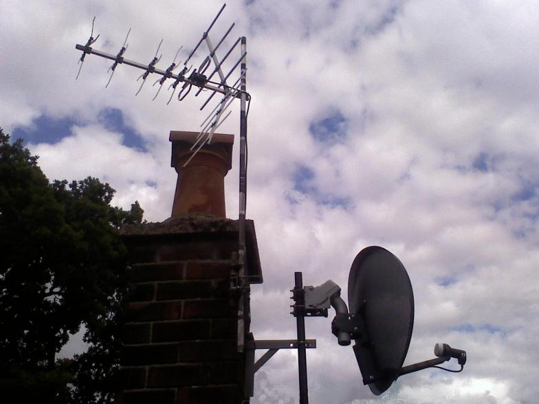 Mini motorised sky dish