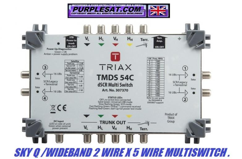 TRIAX SKY Q 2 5 WIRE MULTISWITCH PURPLESAT